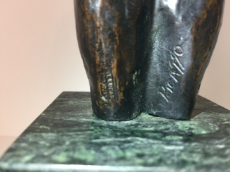 Picasso Sculpture Signature and Stamp
