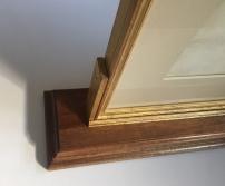 double-sided frame bottom left corner crop
